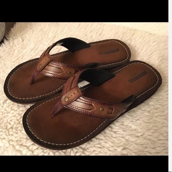 a5ec18cedc1 Clarks Shoes - Clarks Fenner Flair Flip-Flops sz 8 color Honey